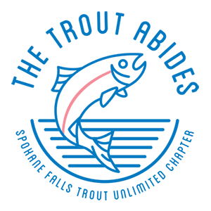 Trout Abides logo Spokane Falls Trout Unlimited